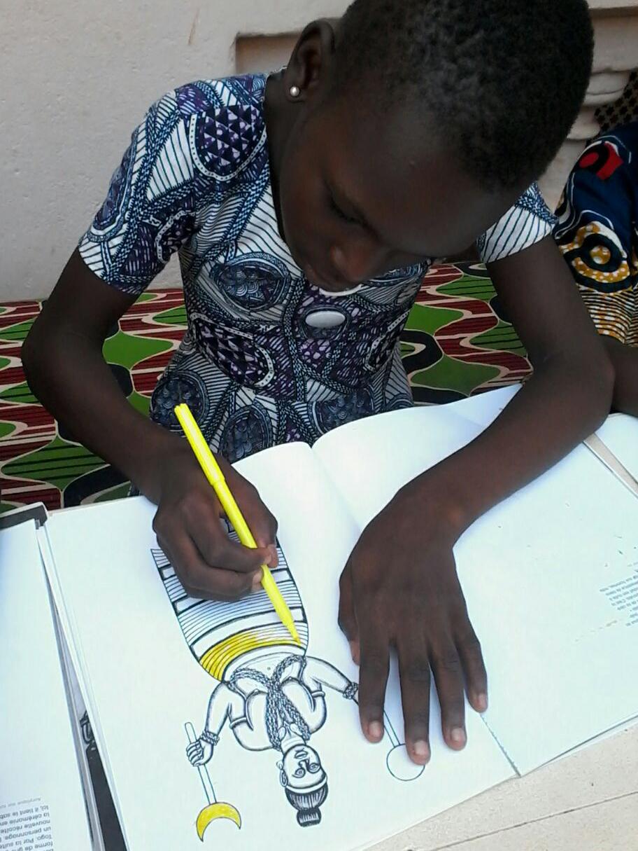 Atelier Coloriage, Ouidah