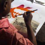 Atelier Petits Pinceaux au Centre scolaire Saint Emmanuel, Cotonou, avril 2016©Fondation Zinsou