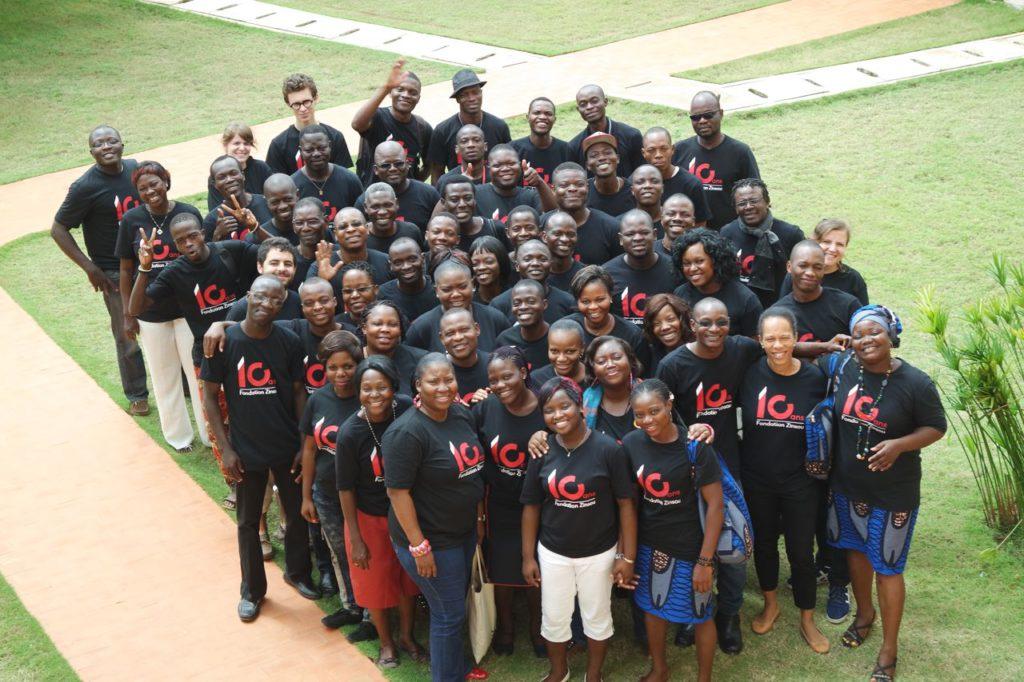 L'équipe de la Fondation Zinsou en visite au Musée de Ouidah – Juin 2015